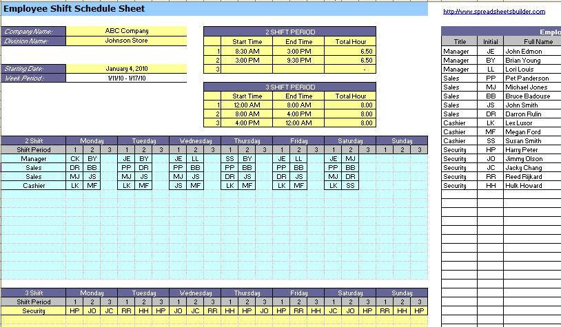 Employee Absence Spreadsheet Templates